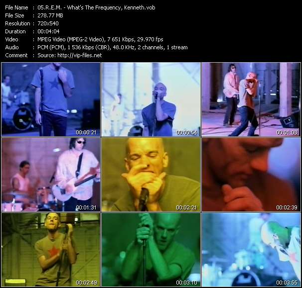 R.E.M. video - What's The Frequency, Kenneth?