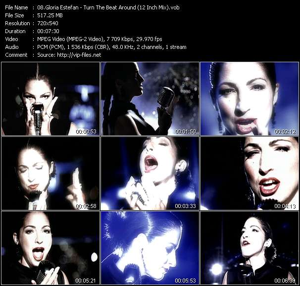 Gloria Estefan HQ Videoclip «Turn The Beat Around (From The Specialist) (12 Inch Mix)»
