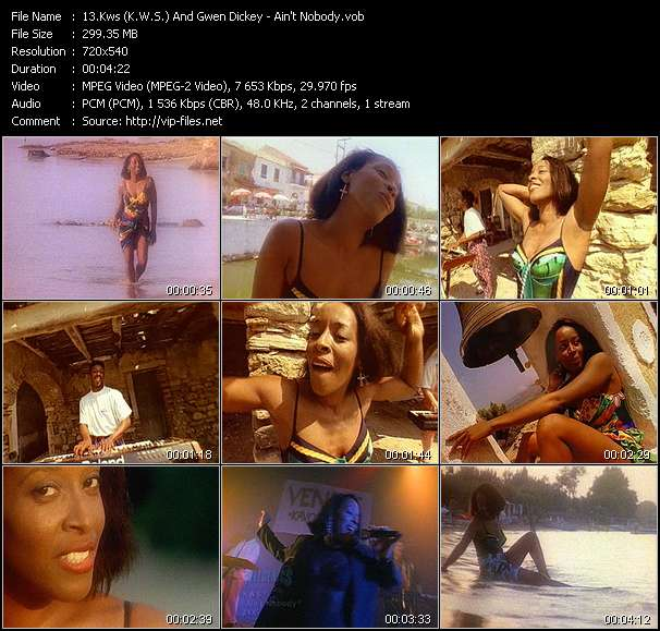 Kws (K.W.S.) And Gwen Dickey HQ Videoclip «Ain't Nobody»