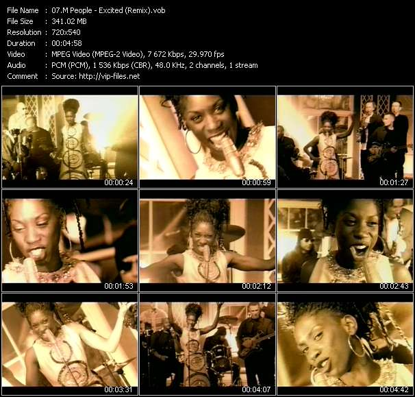 M People video - Excited (Remix)