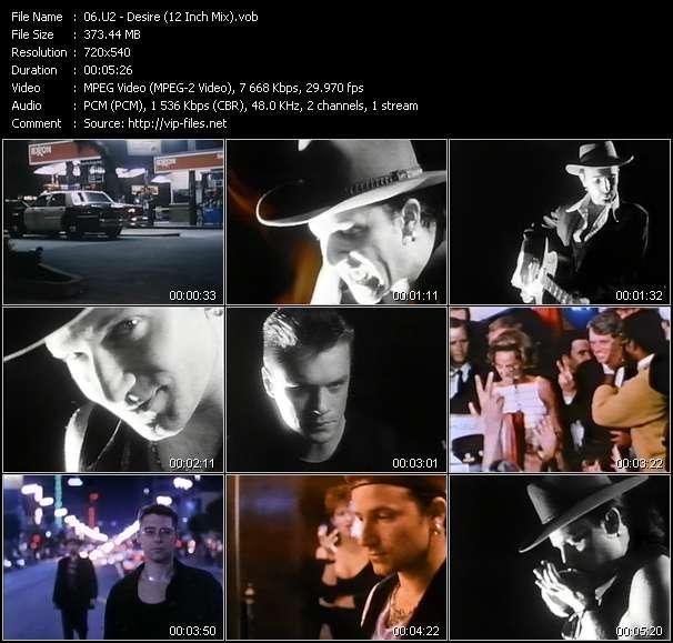 U2 video - Desire (12 Inch Mix)