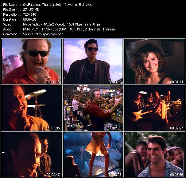 Fabulous Thunderbirds video - Powerful Stuff
