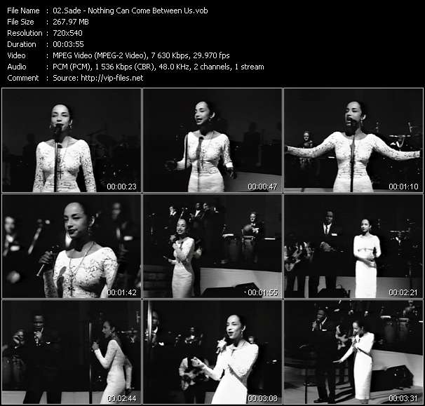 Sade video - Nothing Can Come Between Us