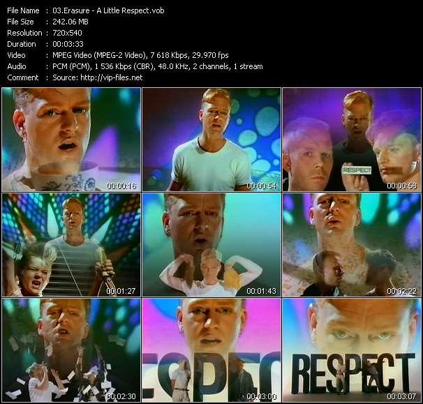 Erasure video - A Little Respect