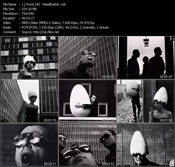 Front 242 HQ Videoclip «Headhunter»