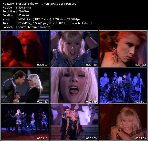 Samantha Fox video - I Wanna Have Some Fun