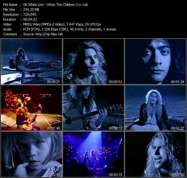White Lion «When The Children Cry» VOB File