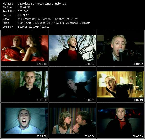 Yellowcard video - Rough Landing, Holly