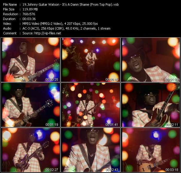 Johnny Guitar Watson HQ Videoclip «It's A Damn Shame (From Top Pop)»