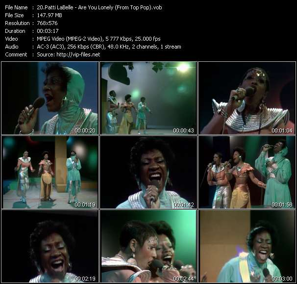 Patti LaBelle HQ Videoclip «Are You Lonely? (From Top Pop)»