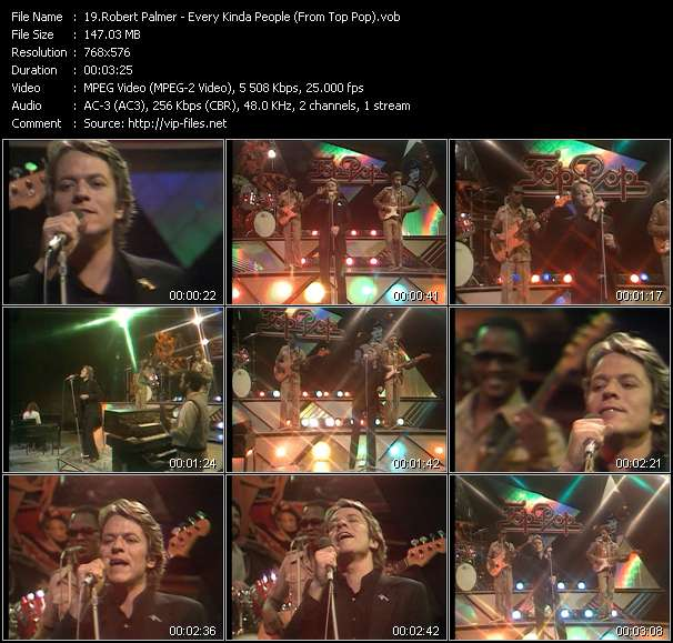 Robert Palmer video - Every Kinda People (From Top Pop)