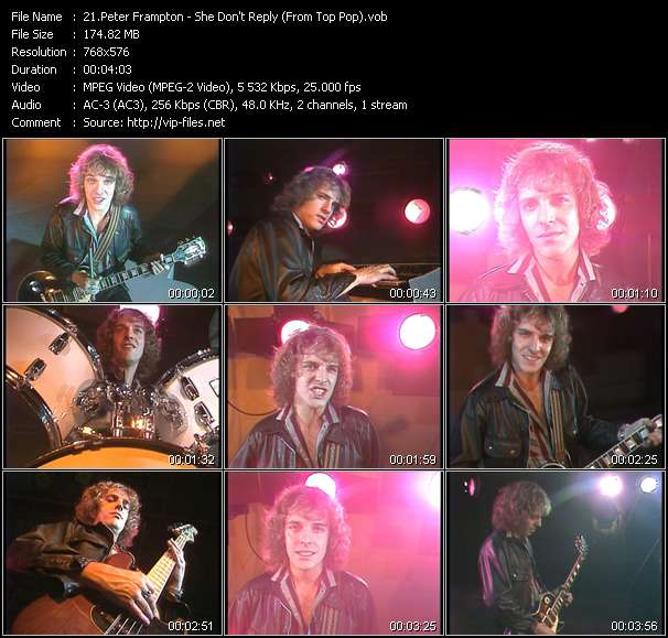 Peter Frampton HQ Videoclip «She Don't Reply (From Top Pop)»