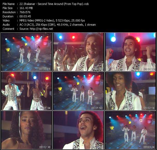 Shalamar HQ Videoclip «Second Time Around (From Top Pop)»