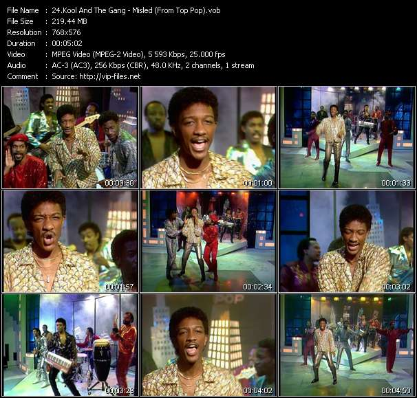 Kool And The Gang HQ Videoclip «Misled (From Top Pop)»