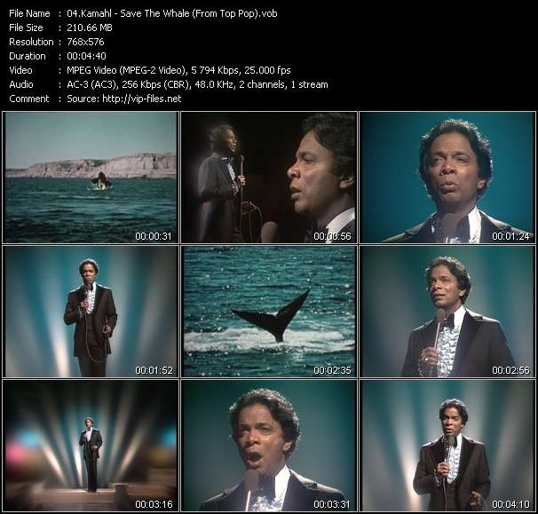 Kamahl HQ Videoclip «Save The Whale (From Top Pop)»