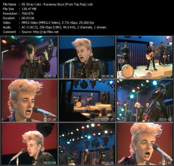 Stray Cats HQ Videoclip «Runaway Boys (From Top Pop)»