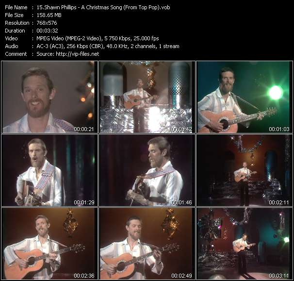 Shawn Phillips HQ Videoclip «A Christmas Song (From Top Pop)»