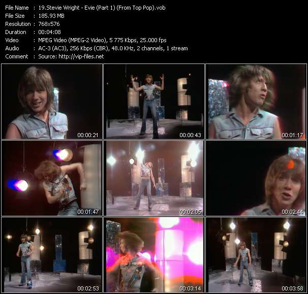Stevie Wright HQ Videoclip «Evie (Part 1) (From Top Pop)»