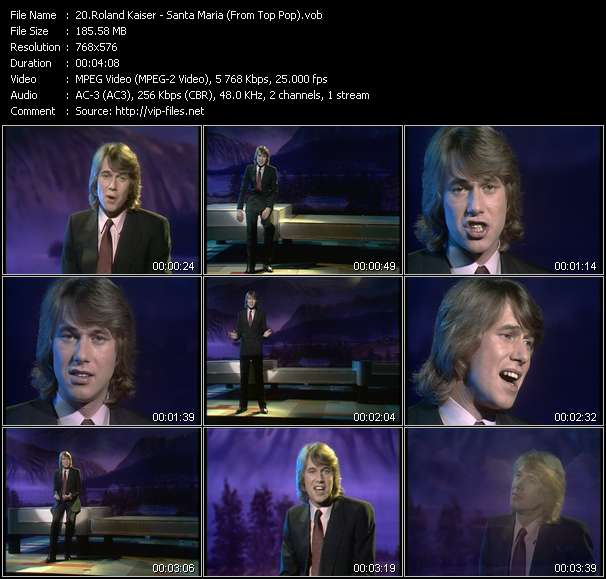 Roland Kaiser HQ Videoclip «Santa Maria (From Top Pop)»