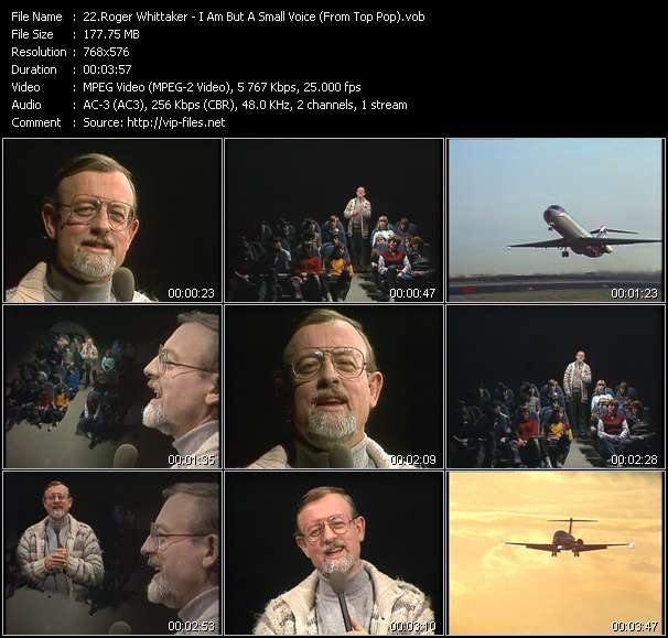 Roger Whittaker HQ Videoclip «I Am But A Small Voice (From Top Pop)»