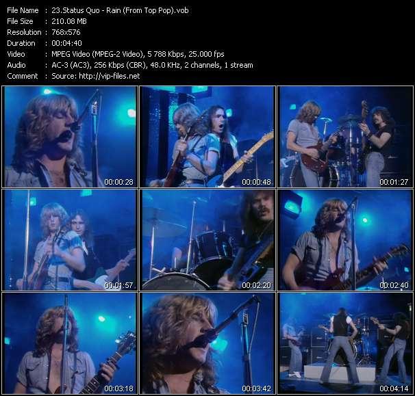 Status Quo HQ Videoclip «Rain (From Top Pop)»