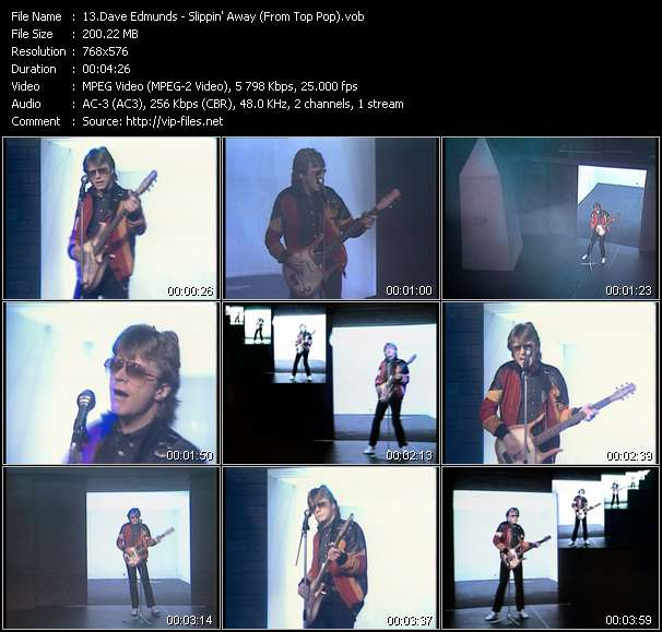 Dave Edmunds HQ Videoclip «Slippin' Away (From Top Pop)»