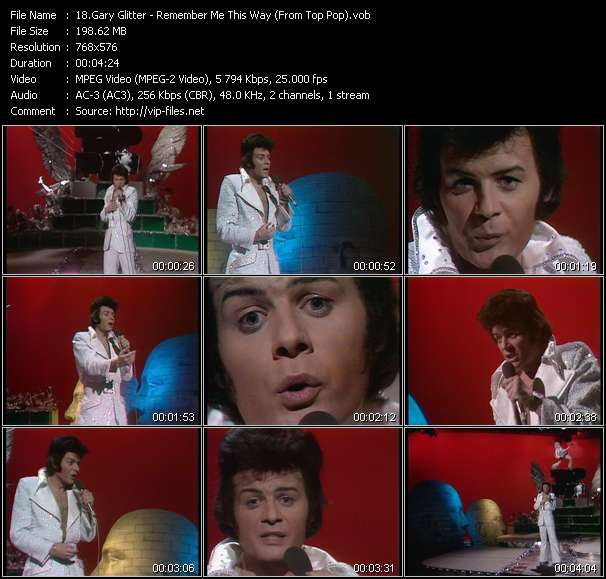 Gary Glitter HQ Videoclip «Remember Me This Way (From Top Pop)»