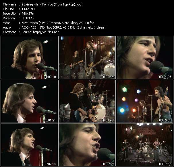 Greg Kihn HQ Videoclip «For You (From Top Pop)»
