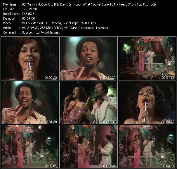 Marilyn McCoo And Billy Davis Jr. video - Look What You've Done To My Heart (From Top Pop)