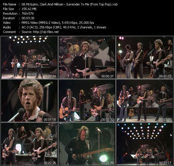 McGuinn, Clark And Hillman video - Surrender To Me (From Top Pop)