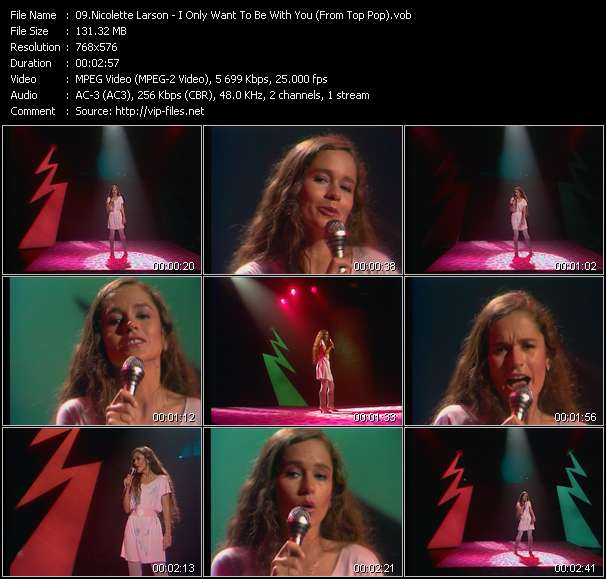 Nicolette Larson video - I Only Want To Be With You (From Top Pop)
