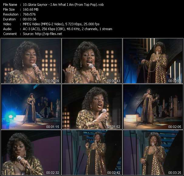 Gloria Gaynor video - I Am What I Am (From Top Pop)