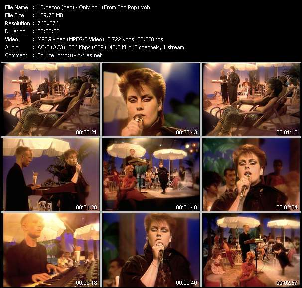 Yazoo (Yaz) video - Only You (From Top Pop)