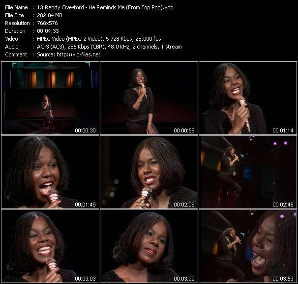 Randy Crawford video - He Reminds Me (From Top Pop)