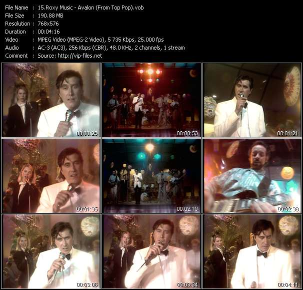 Roxy Music video - Avalon (From Top Pop)