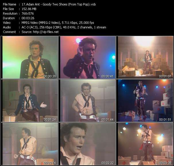 Adam Ant video - Goody Two Shoes (From Top Pop)