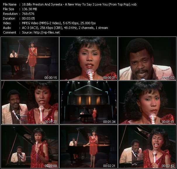 Billy Preston And Syreeta video - A New Way To Say I Love You (From Top Pop)