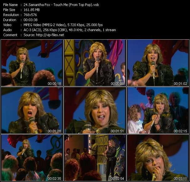 Samantha Fox video - Touch Me (From Top Pop)