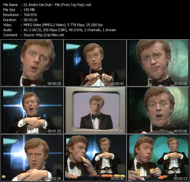 Andre Van Duin music video Filejoker