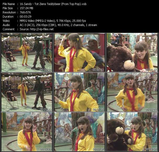 Sandy video - Tot Ziens Teddybeer (From Top Pop)