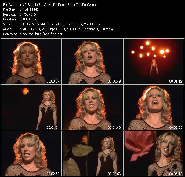 Bonnie St. Clair video - De Roos (From Top Pop)