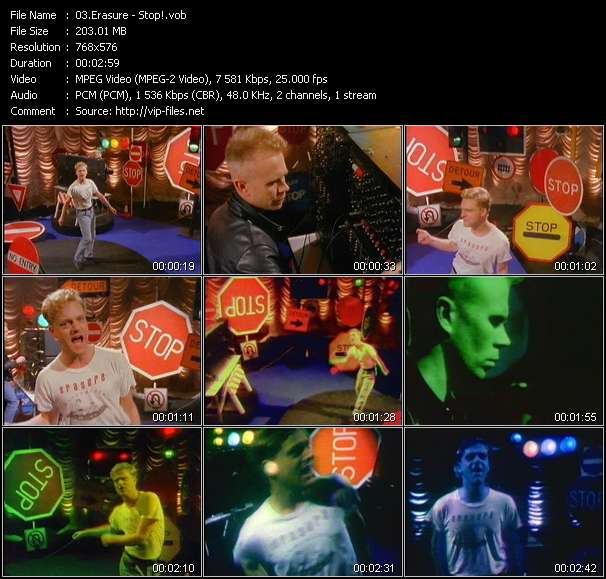 Erasure video - Stop!
