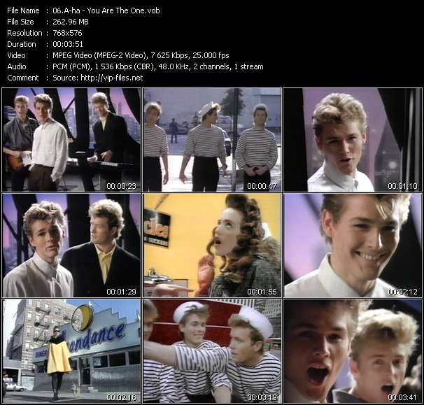A-ha video - You Are The One