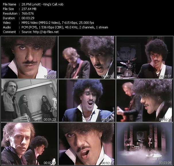 Phil Lynott HQ Videoclip «King's Call»