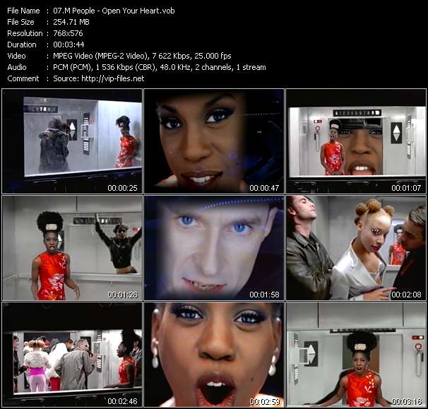 M People video - Open Your Heart