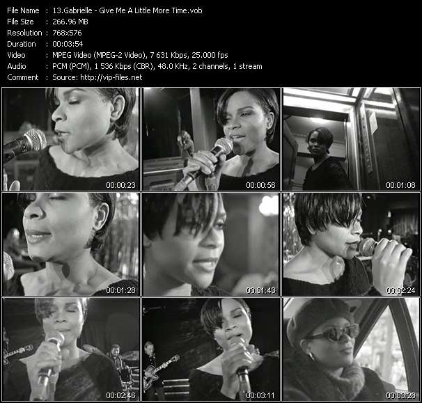 Gabrielle video - Give Me A Little More Time