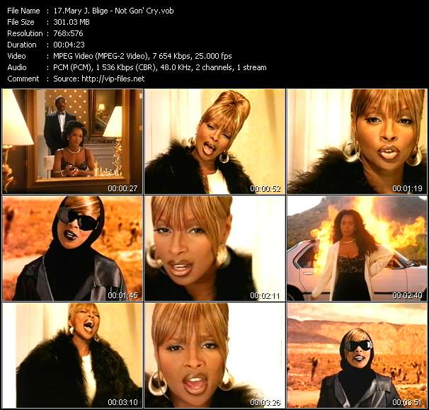 Mary J. Blige video - Not Gon' Cry