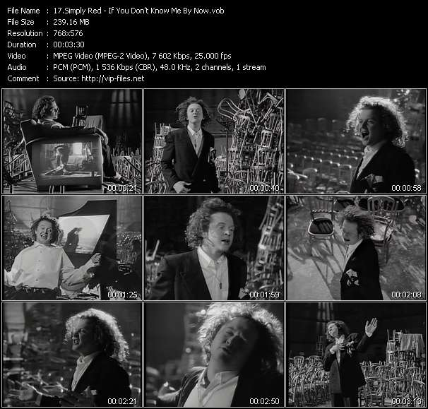 Simply Red HQ Videoclip «If You Don't Know Me By Now»