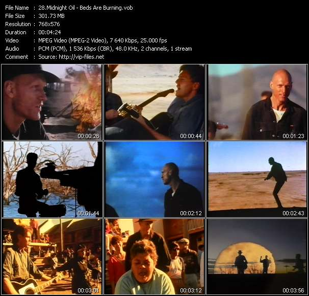 Midnight Oil HQ Videoclip «Beds Are Burning»
