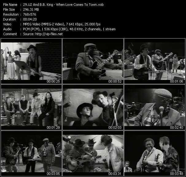 U2 And B.B. King video - When Love Comes To Town